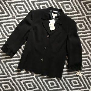 womens brand new talbots silk black blazer